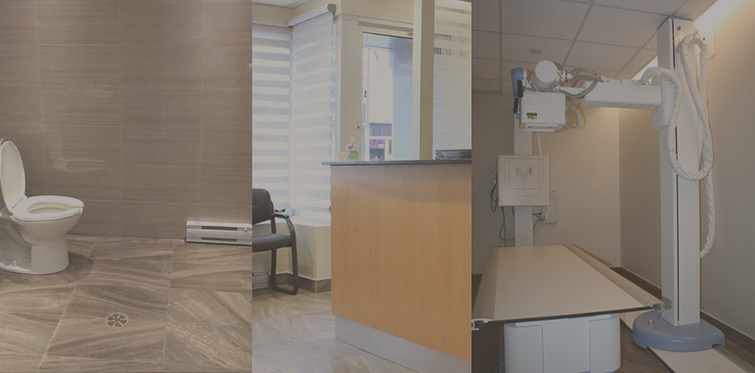 Collage Of Rooms At Bloor X-Ray Clinic After Job Completion