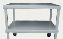 Steel Table With Casters