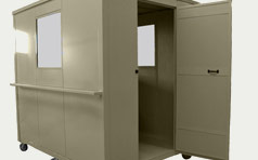 Rolling Booth With Open Door