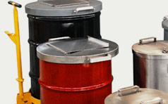 Shielded Waste Decay Barrels