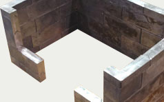 Lead Block Brick Cave Overhead